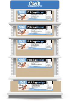 Folding Wedges on Shelves
